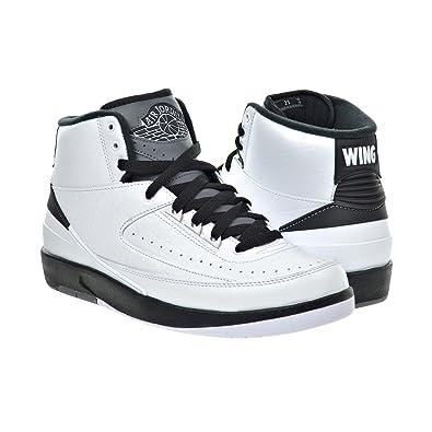 0970d555a40583 Jordan Air 2 Retro Men s Shoes White Black Dark Grey 834272-103 (