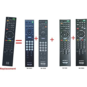 amazon com rm yd028 replaced remote control fit for sony bravia lcd rh amazon com Sony BRAVIA Connection Diagram Sony BRAVIA LED TV Screen Clean
