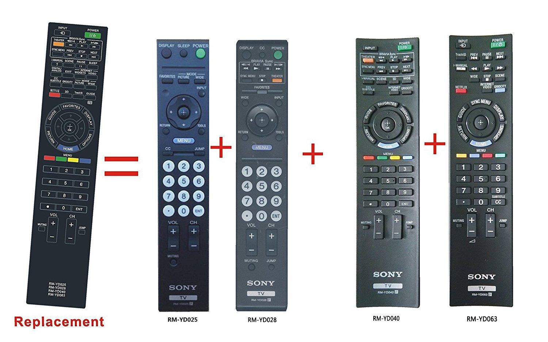 Control Remoto Rm yd028 Sony Bravia LCD LED Tv Kdl32l5000...