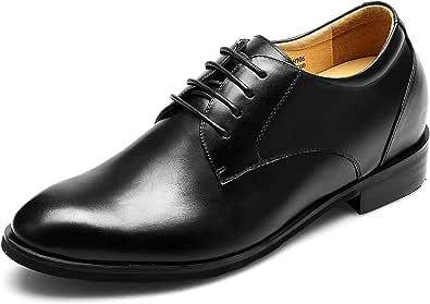 CHAMARIPA Zapatos con Alzas Hombre 7.5cm - Zapatos Oxfords para Hombres con Cuero Interior Elevado para Aumentar la Altura