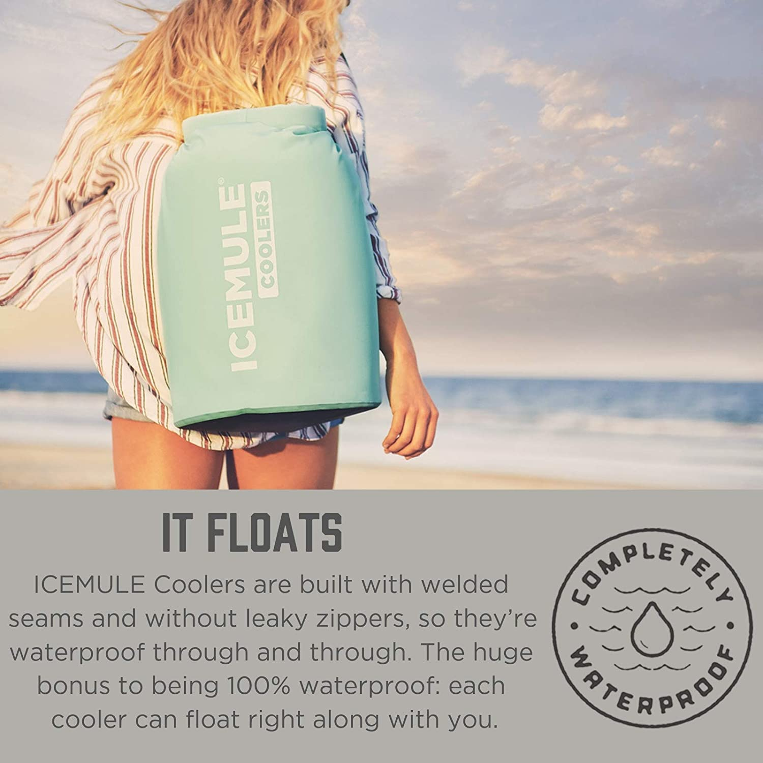 Picnics The Beach Fishing IceMule Classic Insulated Backpack Cooler Bag Waterproof /& Soft-Sided Cooler Backpack for Hiking Collapsible Camping Hands-Free Highly-Portable