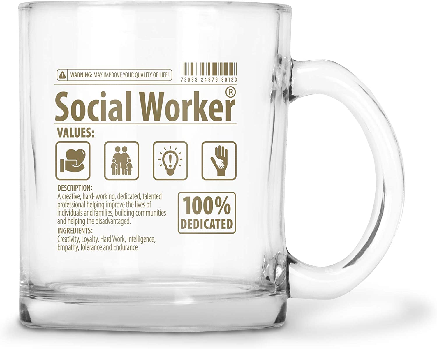 BadBananas - Social Worker Gifts - Now You May Speak Glass Coffee/Tea Mug - Gifts For Licensed Clinical Social Workers, LCSW Gifts