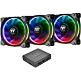 Thermaltake CL-F056-PL14SW-A Riing Plus 14 LED RGB Radiator Fan - Black (Pack of 3)