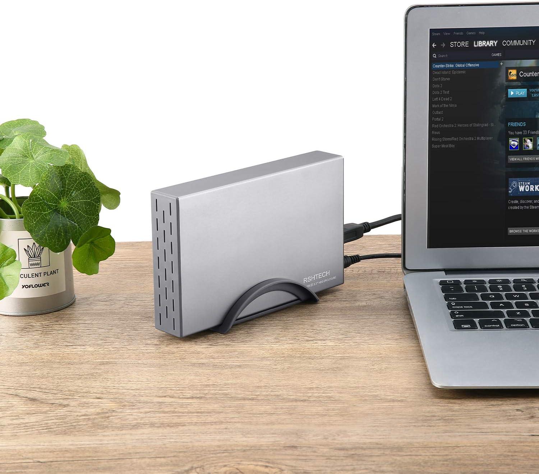 Amazon.com: RSHTECH - Carcasa para disco duro externo de 3,5 ...