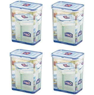 Awesome (Pack Of 4) LOCK U0026 LOCK Airtight Rectangular Tall Food Storage Container  60.87