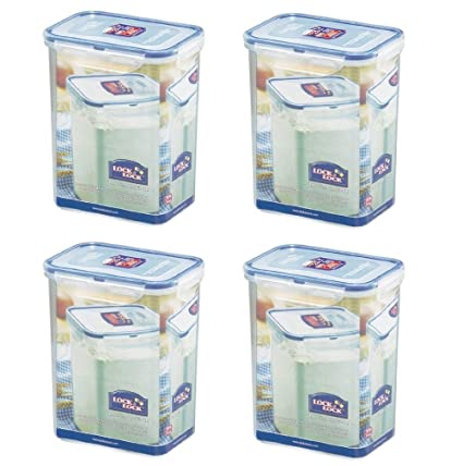 Bon (Pack Of 4) LOCK U0026 LOCK Airtight Rectangular Tall Food Storage Container  60.87