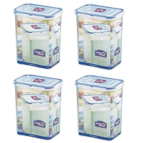 Amazoncom Pack of 4 LOCK LOCK Airtight Rectangular Tall Food