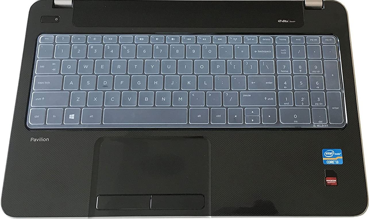 Saco Chiclet Keyboard Skin for HP 250 G2 Notebook Transparent