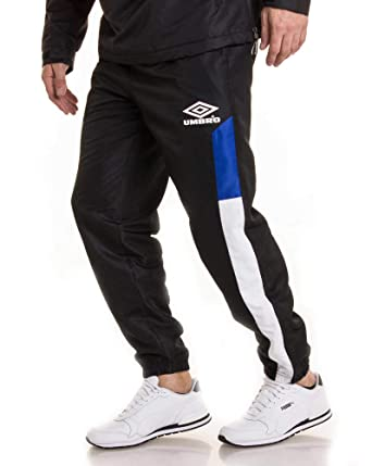 Umbro – Pantalón chándal de Marque 688100 Negro Azul Negro XS ...