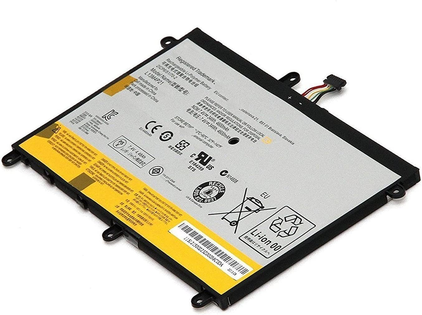 """Dentsing L13M4P21 7.4V 34Wh 4600mAh Battery for Lenovo Yoga 2 11 20428/20332 11.6"""" L13L4P21"""