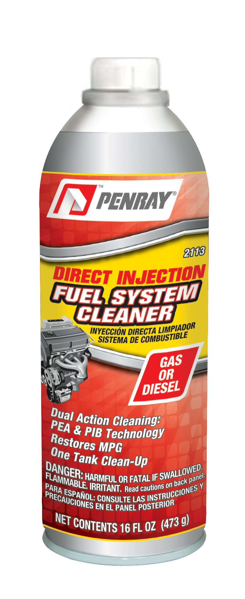 Penray 2113-12PK Direct Injection Fuel System Cleaner - 16-Ounce Aerosol Can, Case of 12 by Penray