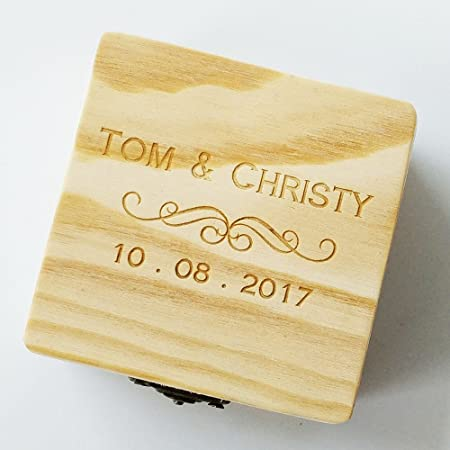 Amazon.com: Personalized wooden swirl maple wood 8 GB USB flash drive; engraved wood USB drive custom wooden box, wedding photo storage gift, birthday gift, ...