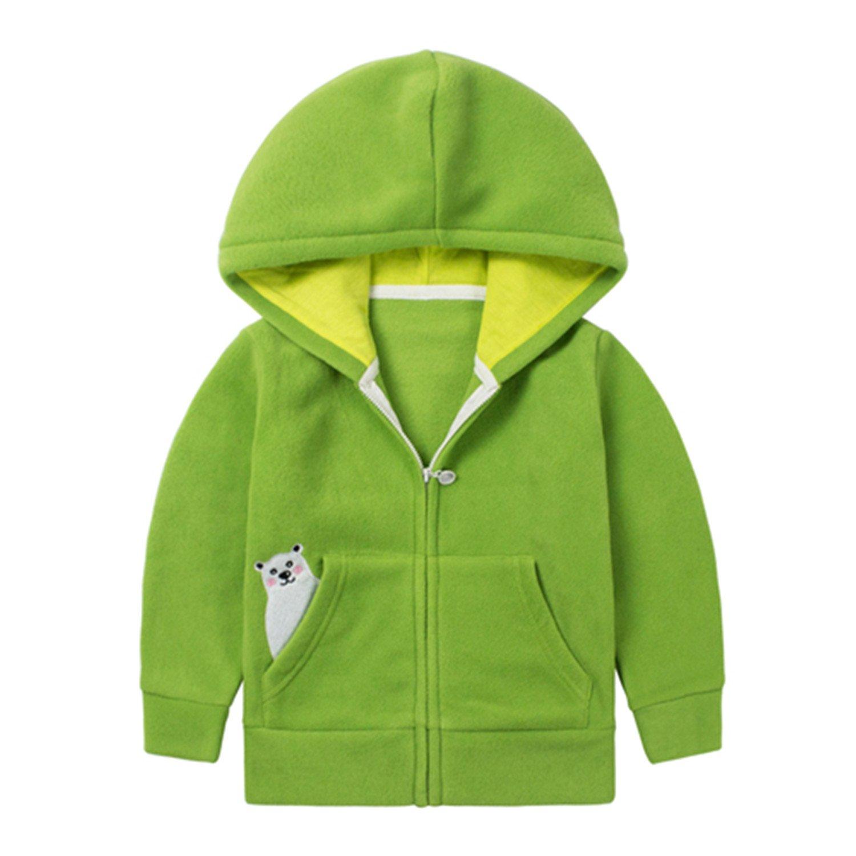 Evan Fordd Brand Kids Boys Girls Unisex Cute Polar Fleece Hoodies Right Pocket