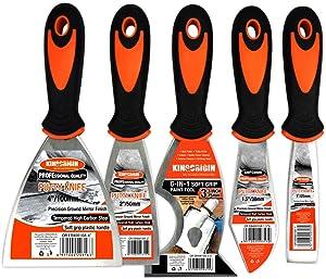 5 Piece Premium Stainless Steel,home tool kit,home repair tools,tool set,tool kit,multi-use,paint scraper,putty knife,paint scraper set,tools,hand tools,tools