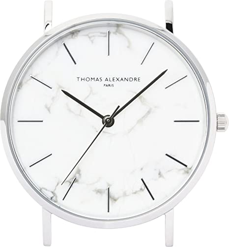 [Thomas Alexandre] Reloj de piedra natural, diseño de mármol francés, minimalista, para hombre y mujer: Amazon.es: Relojes