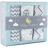 Baby Madeleine Organic Cotton Swaddle Blankets
