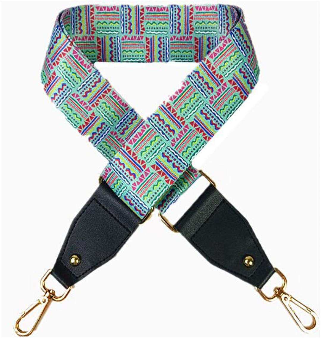 Fashion Canvas Women Bag Strap National Style Adjust Handle For Lady Shoulder Strap Trendy Bag Belts Q0121 Sui BoLi