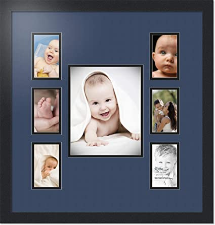 2738dce652 Buy Art to Frames Double-Multimat-672-837 89-FRBW26079 Collage Photo Frame  Double Mat with 1-8x10 and 6-3x5 Openings and Satin Black Frame Online at  Low ...