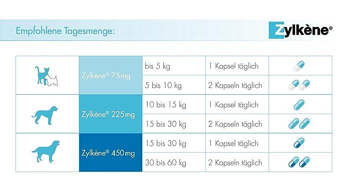 Zylkene - Comida suplementaria para perros y gatos hasta 10 kg - 2 x 30 cápsulas: Amazon.es: Productos para mascotas