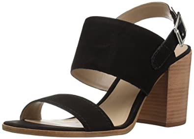 STEVEN by Steve Madden Women's Jaxin Dress Sandal, Black Nubuck, ...