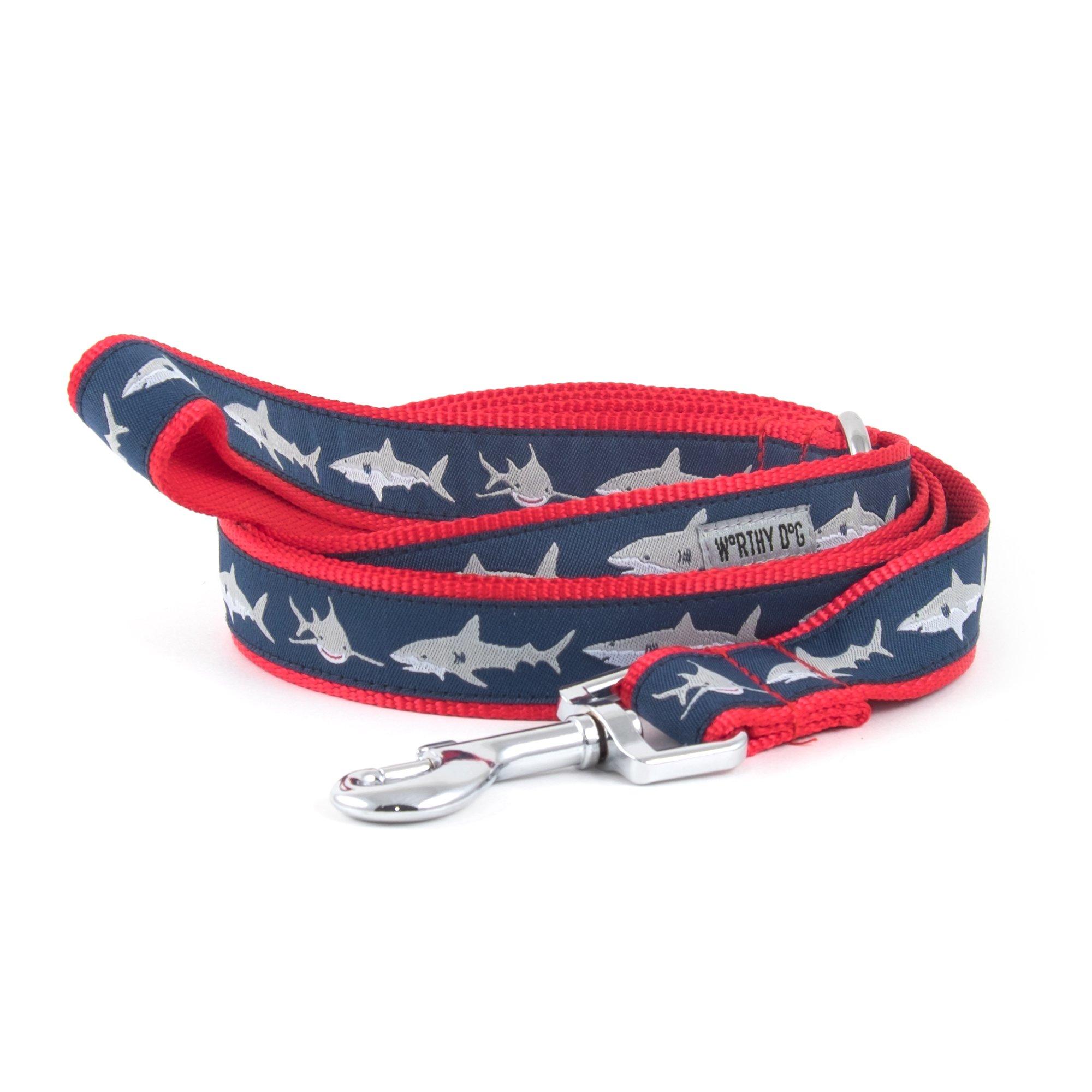 The Worthy Dog Jaws Lead, Blue, 1X5