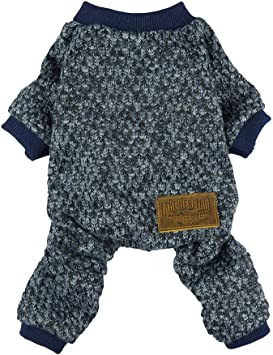 Fitwarm Embroidery Dog Clothes Turtleneck Thermal Fleece Puppy Pajamas Doggie Outfits Cat Onesies Jumpsuits