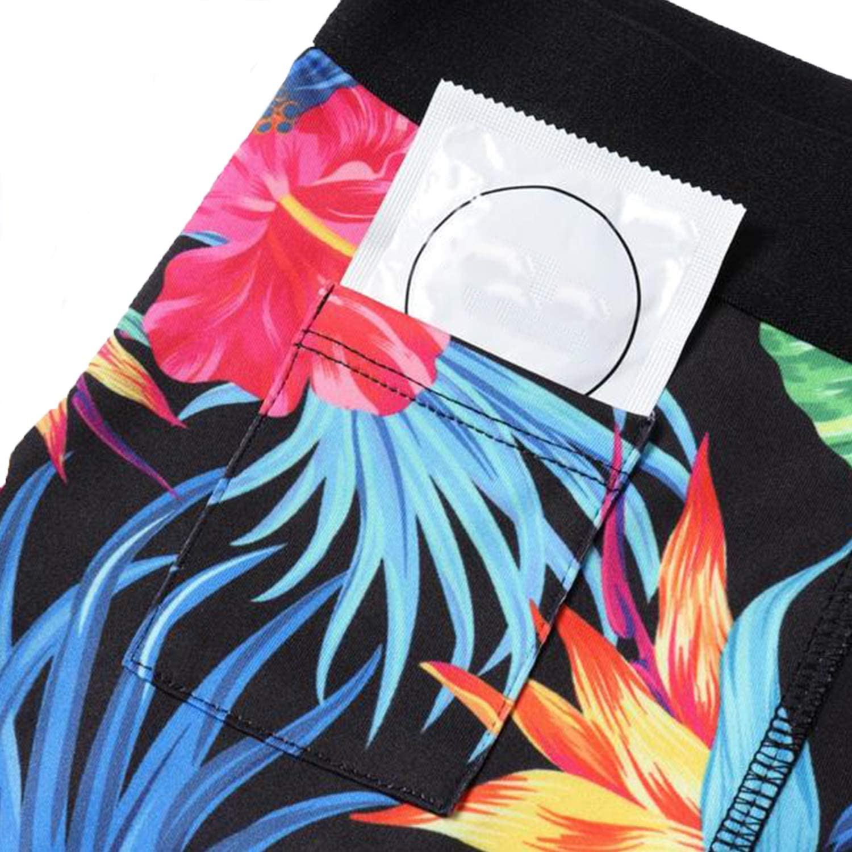 Heyfanee Men/'s Compression Shorts with Pocket 3 Pack Workout Underwear