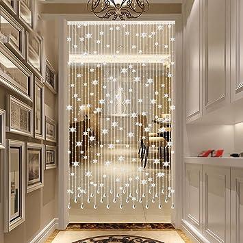 Schon Amazon.de: Transparent Kristall Runde Perlen Schneeflockentyp Dekoration  Vorhang, Luxus Wohnzimmer