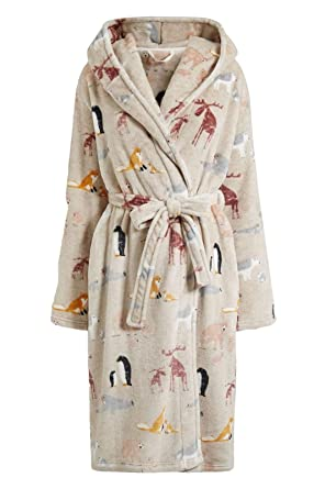 Next Ladies Animal Hooded Dressing Gown Sizes S (8-10) M (12-14 (M ...