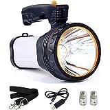 TONGNAN High Power Super Bright Portable Handheld Spotlight Flashlight 7000 Lumens USB Rechargeable LED Searchlight…