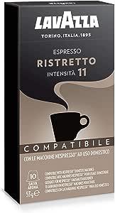 Lavazza Nespresso Compatible Ristretto 10 Coffee Capsules