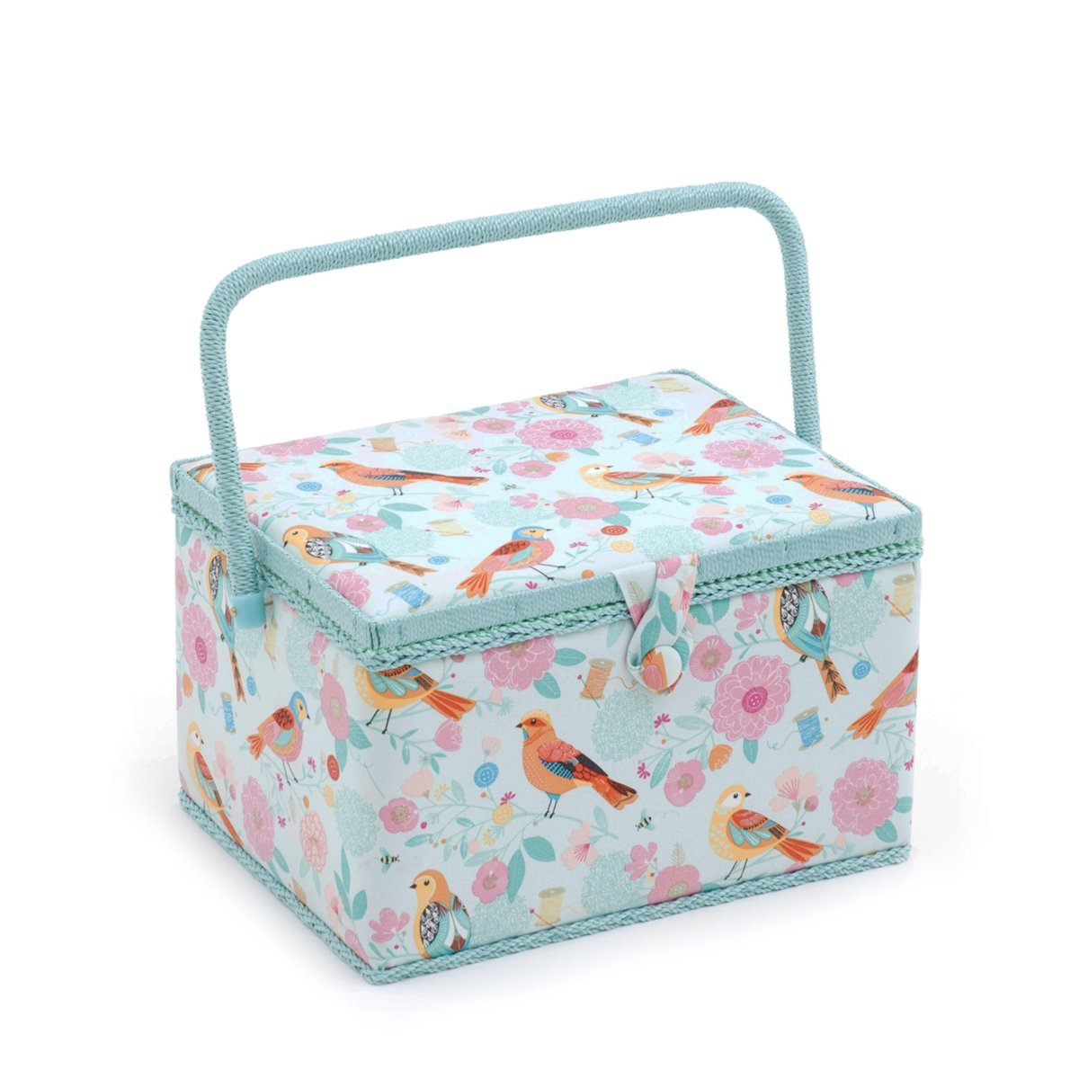Hobby Gift 'Birdsong' Large Rectangle Sewing Box 23.5 x 31 x 20cm (d/w/h) by Hobby Gift