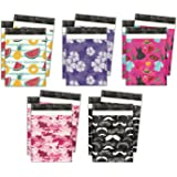 10x13 Variety Pack #1 Designer Poly Mailers Shipping Envelopes Premium Printed Bags 5 Designs (50pcs)