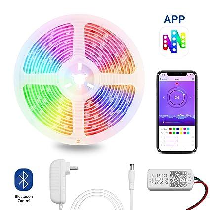Amazon.com: OPPMART Dream Color LED Strip Lights,5m/16.4ft ...