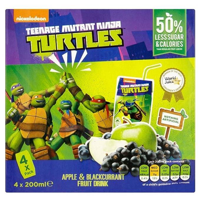 Appy Tortugas Ninja De Manzana Y Bebidas Néctar De Fruta De ...