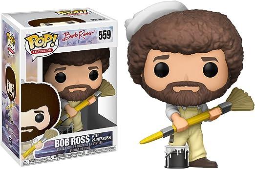 Amazon Com Funko Pop Tv Bob Ross Bob Ross In Overalls Collectible Figure Multi Colored Funko Pop Television Toys Games