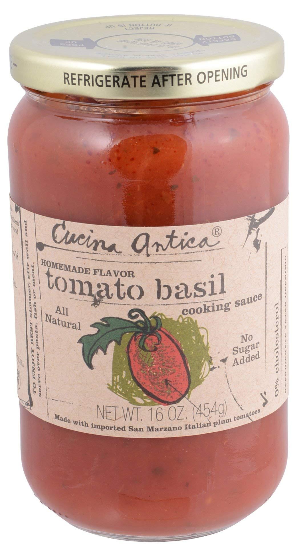 Cucina Antica, Sauce Tomato Basil, 16 Ounce