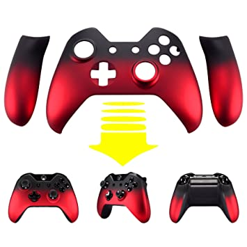 eXtremeRate Carcasa para Xbox One Funda Delantera Agarre Izquierdo Derecho Protectora de la Placa Tacto Suave Cubierta Antideslizante Asa Mango para ...