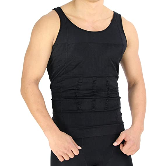 823516011f RAPID Men s Nylon Slimming Body Shaper Vest (Black