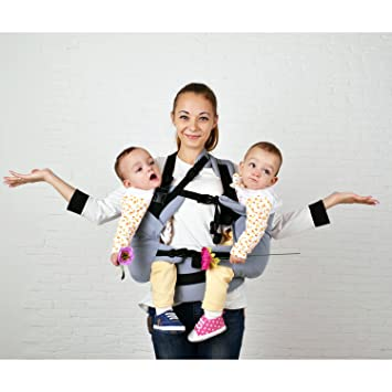 Malishastik Twin Baby Carrier Twins Carrier Tandem Twin Carrier Baby Twins Twins Carrier