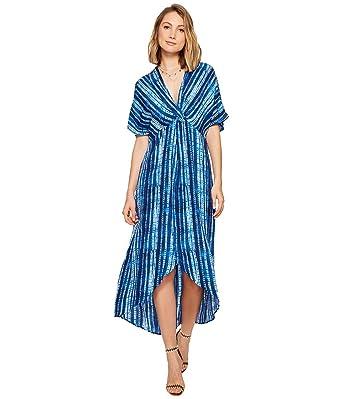 Show Me Your Mumu Womens Get Twisted Maxi Dress Indigo Rain Dress