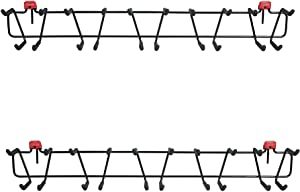 Rubbermaid Shed Storage 50 Pound Capacity 34 Inch Tool and Sports Rack (2 Pack)