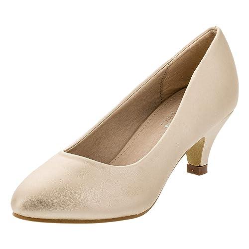 Festliche Mädchen Pumps Ballerinas Schuhe Absatz Strass
