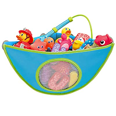 Gazelle Trading Bath Toy Organizer Bathtub Toys Holder Storage Net Corner Shower Caddy Bag for Kids and Toddlers Bathroom Basket for Baby Boys and Girls Hanging Mesh Hammock: Toys & Games