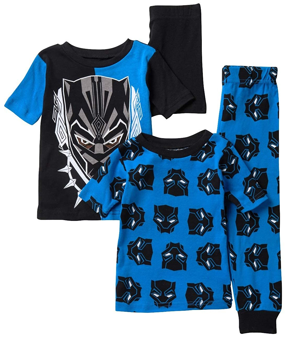 Marvel Boys Black Panther 4-Piece Cotton Pajama Set 21PB010BSLZA-P6