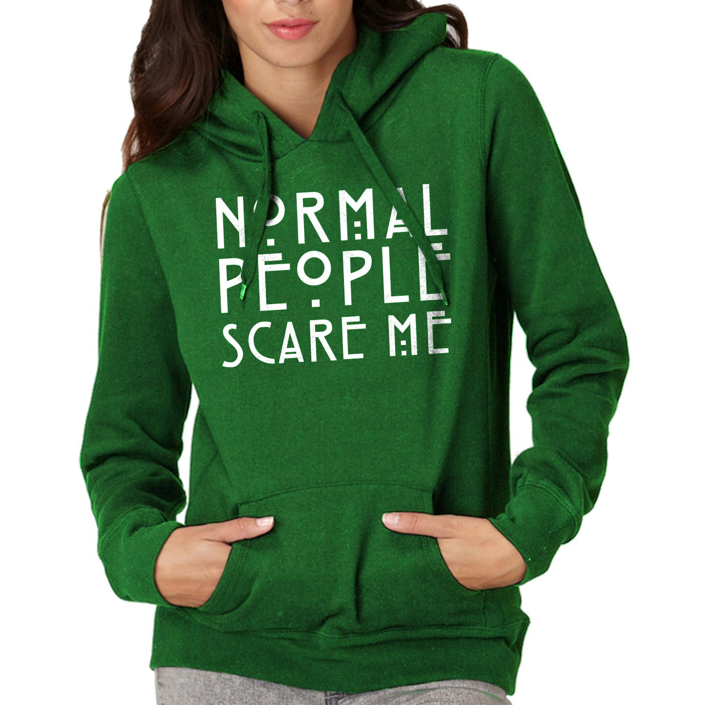 Indica Plateau Normal People Scare Me Unisex Adult Hoodie 3085-H