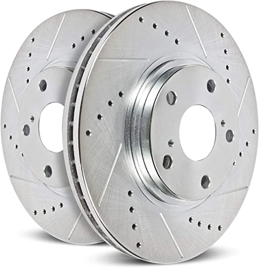 Power Stop AR8191XPR Rear Evolution Drilled /& Slotted Rotor Pair