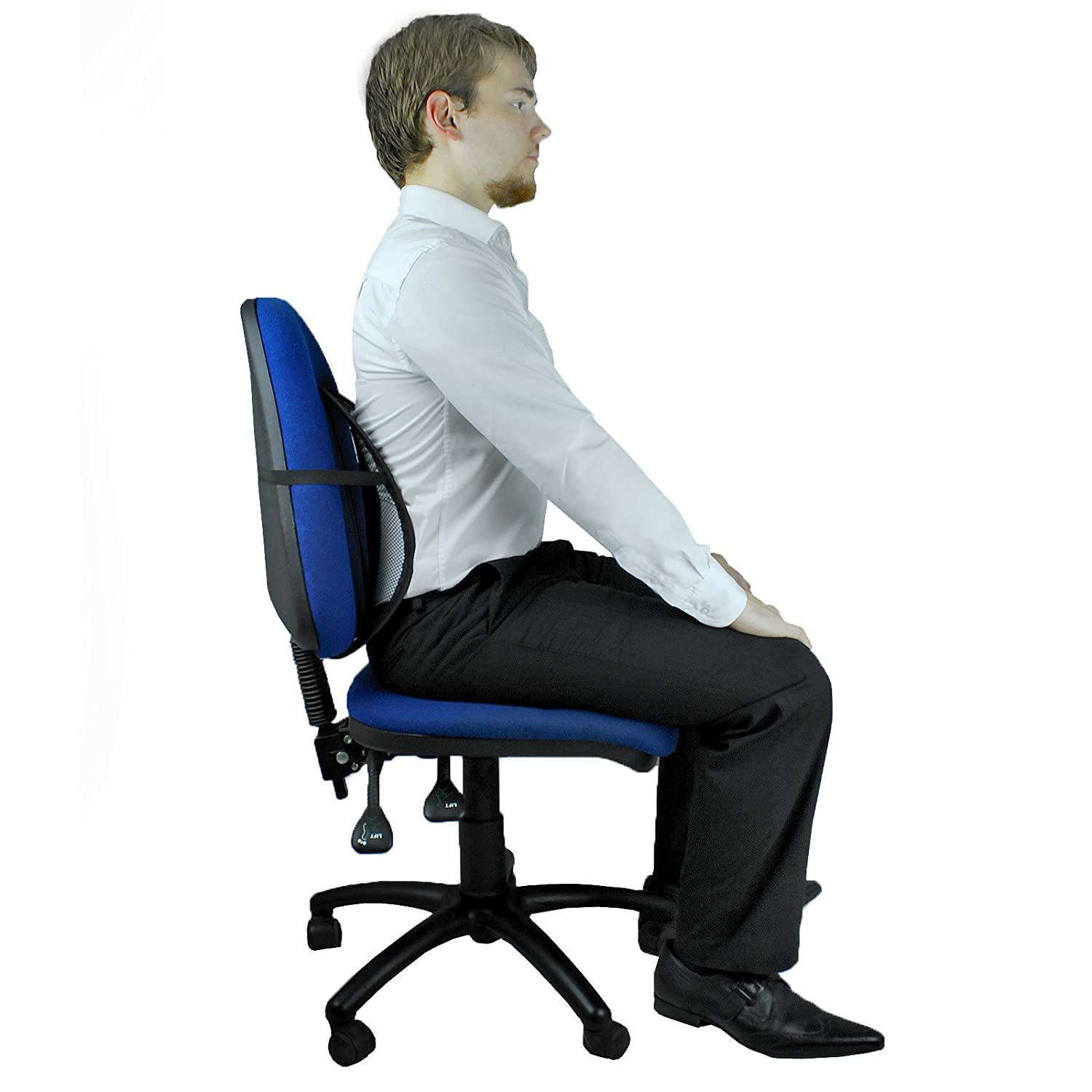 ... AMOS Chair Back Support Seat Sit Tight Right With Elasticated