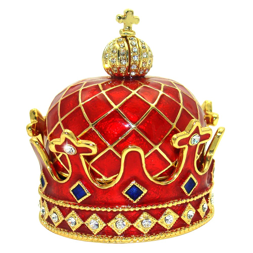 Objet D'Art #376 Crown of the Scotts Medieval Monarch Jewels Trinket Box