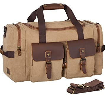 bcd42f1bb2d Image Unavailable. Image not available for. Color  WOWBOX Duffel Bag Travel  Weekender Bag Luggage Bags for Men Women ...